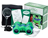 Binoculars For Kids 8x21 with Magnifying Glass - Toy for Boys and Girls Shock Proof Compact Set with Real Optics - Perfect for Outdoor Play, Safari, Bird Watching, Hiking, Travel