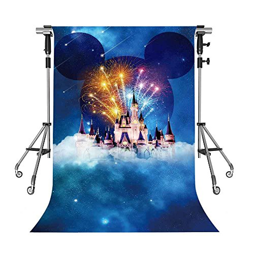Mickey Mouse Background - MEETS 5x7ft Disneyland Backdrop White Building Mickey Mouse avatar Photography Background Themed Party Photo Booth YouTube Backdrop GEMT491