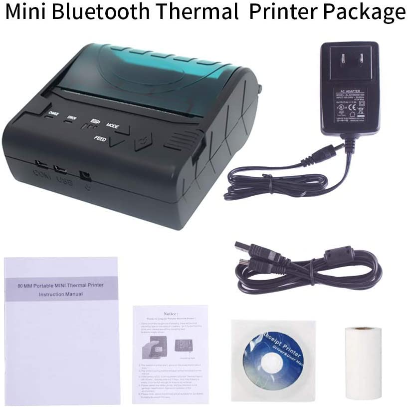Amazon.com: Mini Thermal Bluetooth Receipt Printer, Portable ...