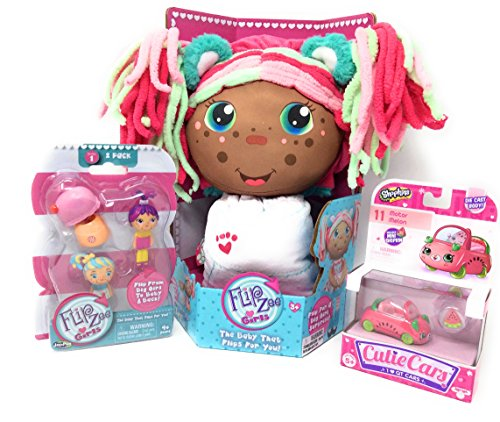 Kangaroo Cutie Adult Costumes (Flip Zee Girls African American Zoey Sweet and Cuddly 2-in-1 Plush Doll BONUS Flipzee girls mini babies (Dolls vary) series 1 pack of Two! and 1 Cutie Car)