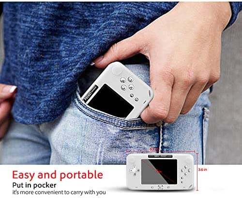EASEGMER Handheld Games Console, 500 Retro FC Games 4 Inch Video Game Handheld Console - 12 Bit Rechargeable Game Player Support TV/AV Output & Two Players, Best Gift for Kids and Adults (White) Best Deal Site   Setia menemani anda
