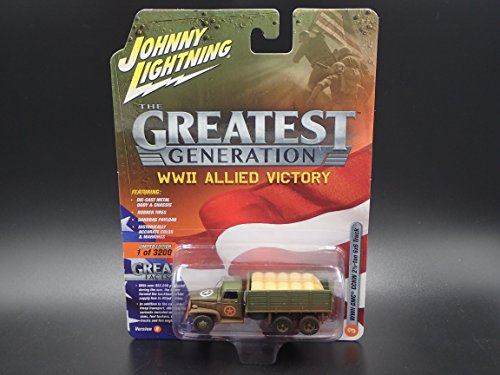Johnny Lightning WWII GMC CCKW 2 1/2-ton 6x6 Truck 2018 The Greatest Generation WWII Allied Victory Version (Gmc Military Trucks)
