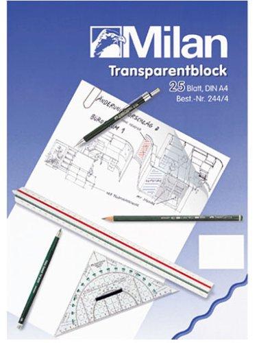 Milan Bringmann 244/4 - Folia, carta trasparente A4, 25 fogli