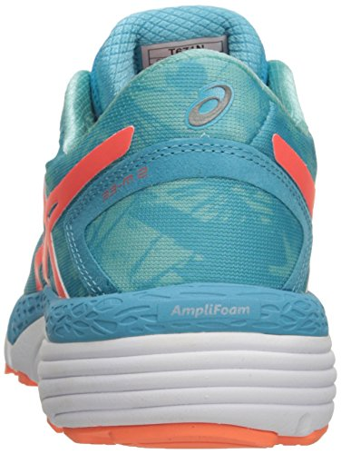 Asics Mujeres 33-m 2 Running Shoe Aquarium / Flash Coral / Aruba Blue