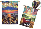 Evergreen Enterprises 13S3411FB Paradise Lake 2 Sided Vertical Flag, Multicolored Review