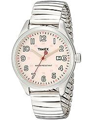 Timex Originals T2N311 Unisex T Series Pink Dial Steel Expander Watch