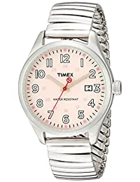 Timex Original Ladies Watch T2N311ZB with Pink Dial Expansion Band