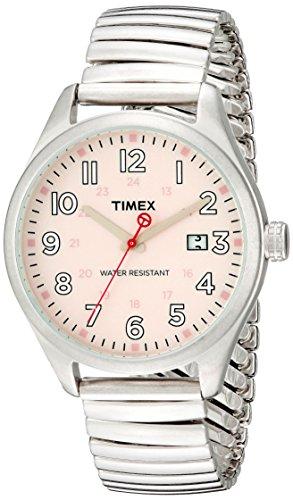 Timex Originals T2N311 Unisex T Series Pink Dial Steel Expander Watch (Pink Unisex Watch)