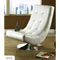 247SHOPATHOME Idf-AC6912W Living-Room-Chairs, White