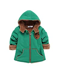 Happy Cherry 8 Months-4 Years Baby Winter Outwear Hooded Zipper Jacket with Pocket