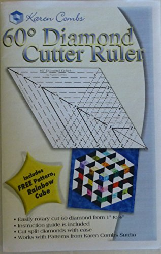60 Degree Diamond Cutter Ruler, Great Tool!~ with Free Patte