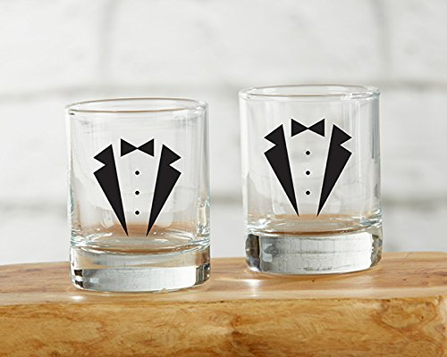 20 Tuxedo Shot Glasses by Kate Aspen