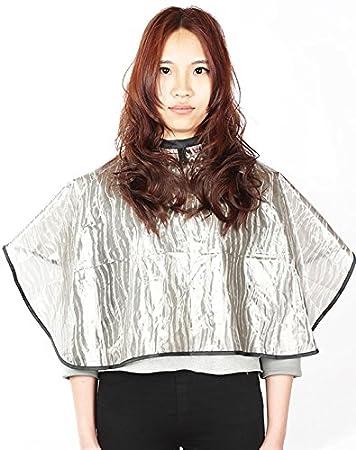 Mantellino Corto da Barbiere per Tutti gli Usi, Mantello impermeabile per Colorazione con Chiusura Velcro (1 Pezzo) Perfe Hair SW011-1