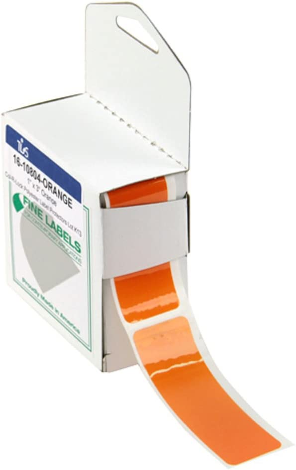 Rose RPI Col-R-Lock Tinted See-Thru Label Protectors 1 inch x 3 inches 250 per Roll