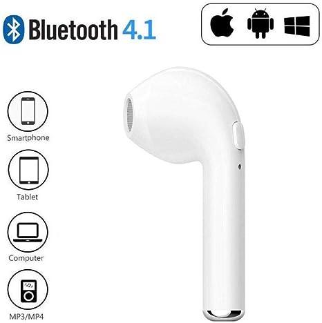 Fone de Ouvido Um Lado Sem Fio Bluetooth I7 Mono 4.2 Branco iOS e ...