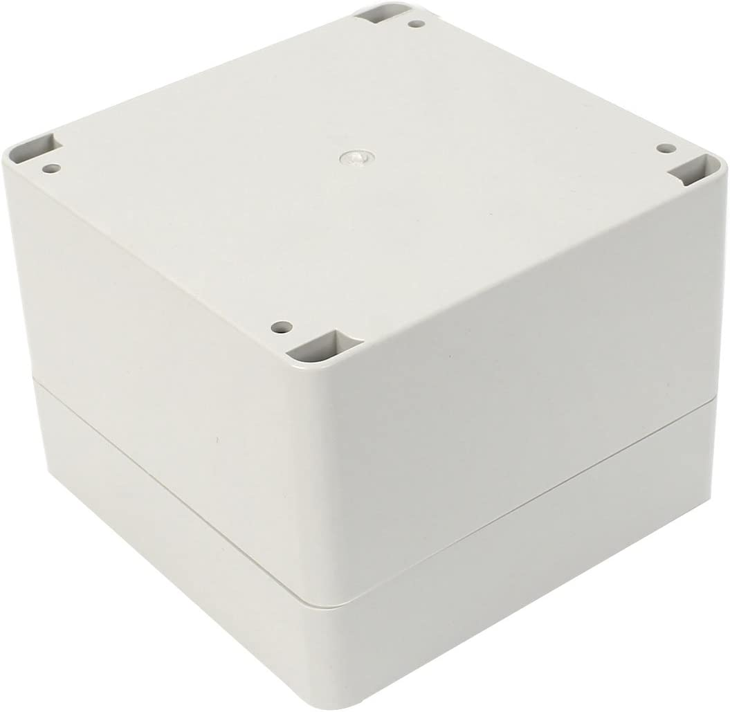 Saim ABS Plastic Waterproof IP65 Electronic Project DIY Junction Box Enclosure Case 120mm x 120mm x 90mm White 4.7X 4.7X 3.5 Inch
