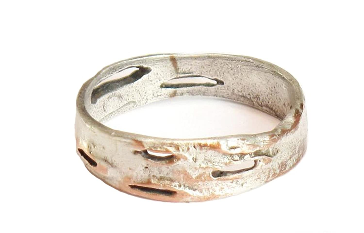 """""""Thin Birch Bark"""" (Size 7) Ring by Michael Michaud for Silver Seasons……"""