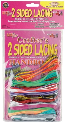 Pepperell Flex Rex Duo 2-Sided Plastic Lace, 200-Feet -
