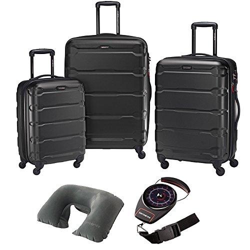 Samsonite Omni Hardside Luggage Nested Spinner Set of 3 Black with Travel...