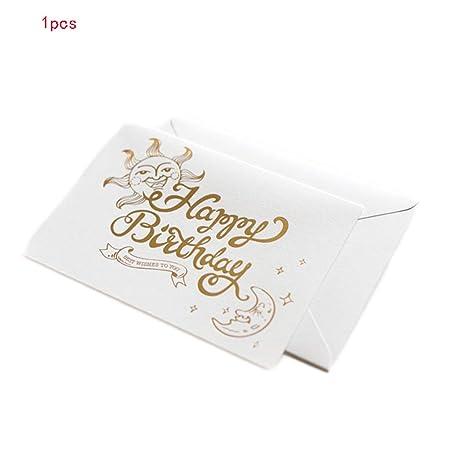 Colorido Retro Mini Tarjeta de cumpleaños Postal Creativa ...