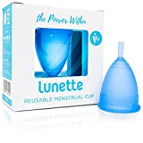 Lunette Reusable Menstrual Cup - Blue - Model 2 for Normal or Heavy Flow - Your Vagina's New Best Friend