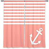 DiaNoche Designs Window Curtains Lined from Unique, Decorative, Funky, Cool by Organic Saturation – Coral Love Anchor Nautical Review