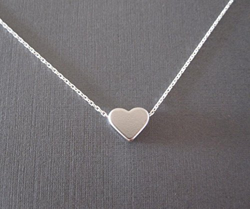 Silver Women Necklaces Jewelry Tiny Love Heart Pendants Long Chain Simple Charm Summer Gift (Tiny Heart Chain)