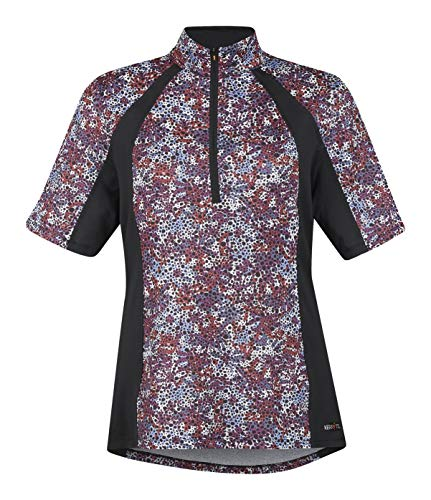 - Kerrits Ice Fil Shortsleeve Print Berry Meadow Size: L