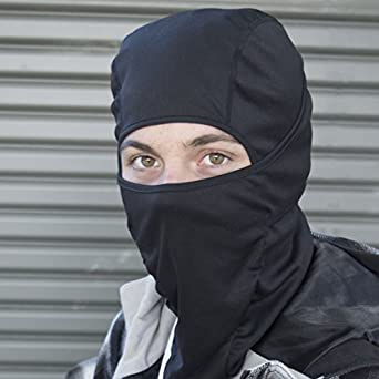 Balaclava Motorcycle Mask / Motorcycle Balaclava - Lighter than Neoprene - Winter Outdoor Ski Gear - Mens Riding Full Hood - Black Tactical Accessories - Helmet Masks For Men - One Size Fits Most