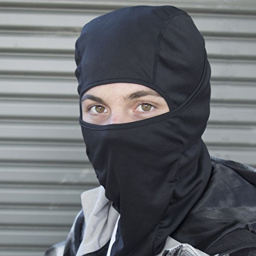 Balaclava Motorcycle Mask/Motorcycle Balaclava - Lighter Than Neoprene - Winter Outdoor Ski Gear - Mens Riding Full Hood - Black Tactical Accessories - Helmet Masks for Men - One Size Fits Most ()