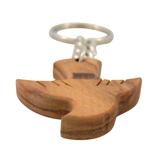 Amazon.com: Llavero de madera de paloma de Espíritu Santo de ...