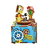 Ocamo DIY Jigsaw Puzzle Hand-made Carousel Box Wooden Music Box Home Decoration as AM305 bloom