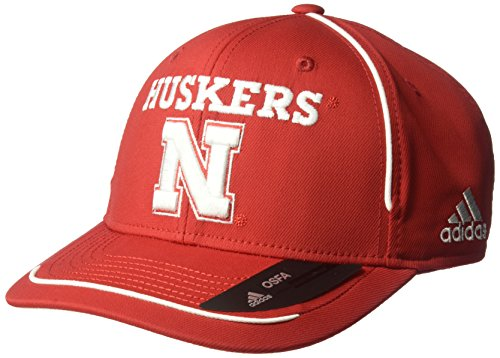 - adidas NCAA Nebraska Cornhuskers Adult Men Pre-Curved Structured Adjustable, One Size, Red