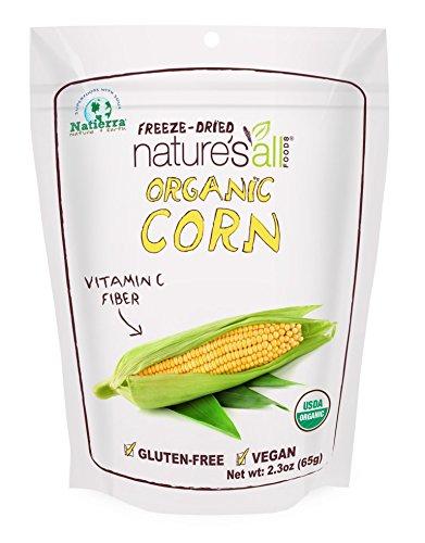 Natierra Nature's All Foods Organic Freeze-Dried Sweet Corn, 2.3 Ounce