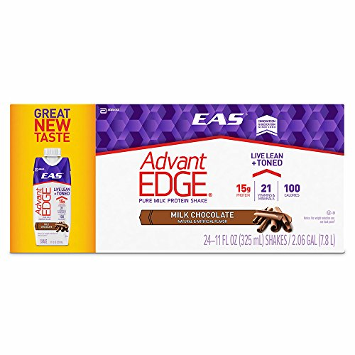 EAS AdvantEDGE Carb Control Chocolate Shake, 11 Fl.oz., 24 pk. (pack of 6) by EAS