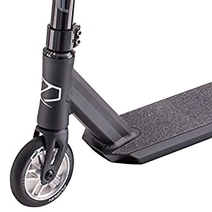 "Fuzion Z250 Pro Scooter - All New Design - (19.5"" L/ 4.25"" W) Deck Dimensions - 110mm Aluminum Core Wheels – Mini-HIC Compression System and Chromoly Riser-Bars (2018 Black)"