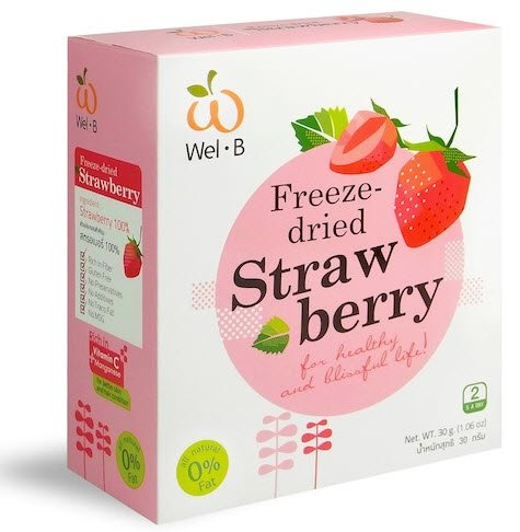 Wel B Freeze-Dried Strawberry Crispy 30g Pack of 2 l by ThaiShop4You (Image #1)'