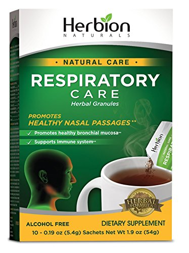 Herbion Naturals Respiratory Care Granules, 10 Count Sachet - Help Relieve Cold and Flu Symptoms, Promote Healthy Respiratory Function, Optimize Immune System.