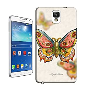 BY SHICASE Vintage Antique Art Butterfly Painting Tpu Cheap Case Cover For Samsung Galaxy Note3