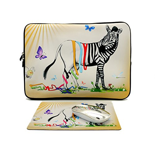 Luka Tech Neoprene Laptop Sleeve Laptop Case Computer Bag with Double Zipper Double Printed Pattern Waterproof Fabric Cover for Acer Samsung Toshiba HP Pavilion Sony Asus Macbook(12 inch, 139)