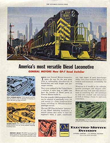 America's most versatile Diesel Locomotive GM EMD GP-7 ad 1950 SEP