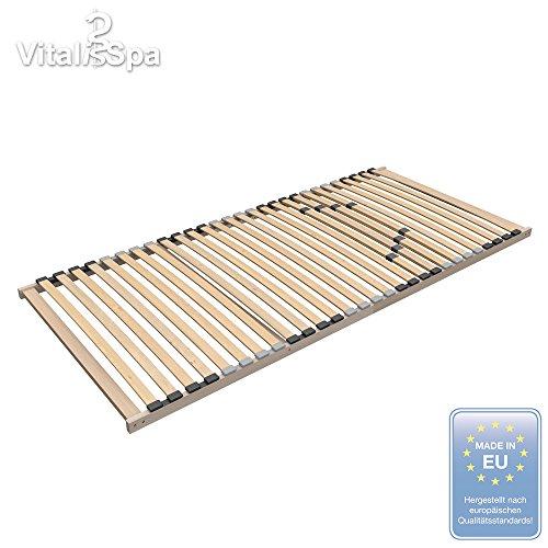 VitaliSpa® 7 Zonen Premium Marken Komfort Lattenrost 140x200 Härteverstellung 28 Leisten starr (ECO 140x200)