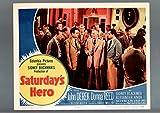 MOVIE POSTER: SATURDAY'S HERO-LOBBY