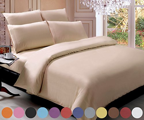 swan comfort brushed microfiber 6pieces bedding sheet sets series full cream