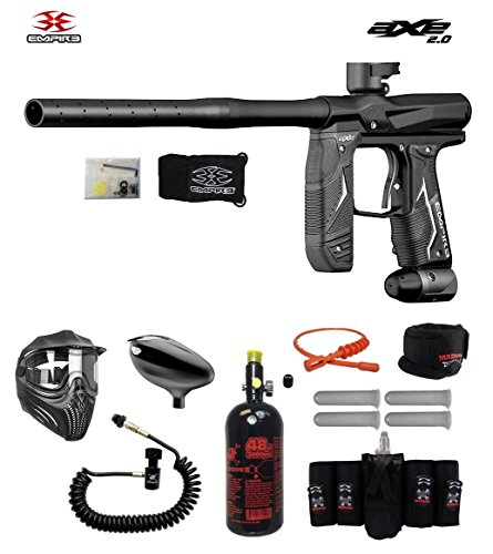 MAddog Empire Axe 2.0 Elite Remote HPA Paintball Gun Package - Dust Black