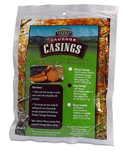 - Eastman Outdoors Natural Hog Casing - Makes 25 lb Sausage Hunting Field Dressing Accessories