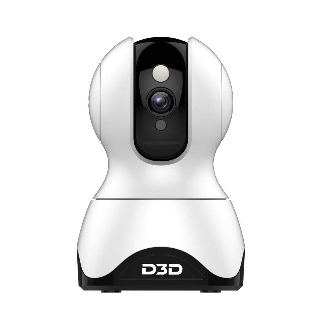 D3D Smart Cam Pan Tilt Home WiFi Camera | Wireless Indoor Security 360° 2MP 1080p (Full HD) | Up to 30 ft Night Vision | Up to 128 GB microSD Card Slot | Compatible with Alexa and Google