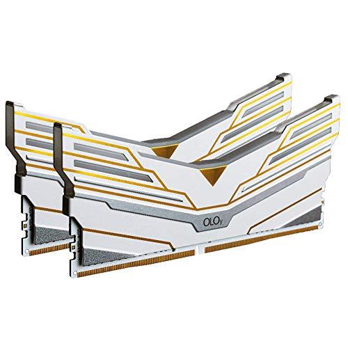 OLOy DDR4 RAM 64GB (2x32GB) Warhawk Aura Sync RGB 3600 MHz CL18 1.35V 288-Pin Desktop Gaming UDIMM (MD4U3236181DCWDX)