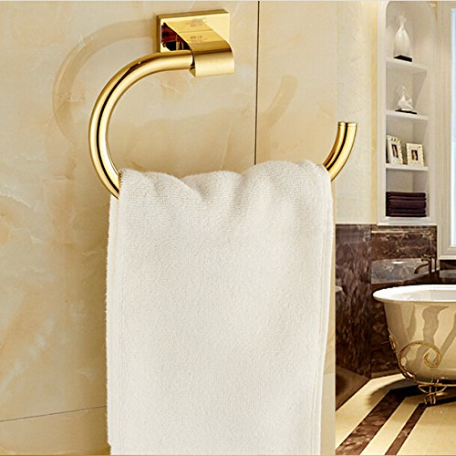 iyuego gold bathroom accessories brass material towel rings - Bathroom Accessories Dubai