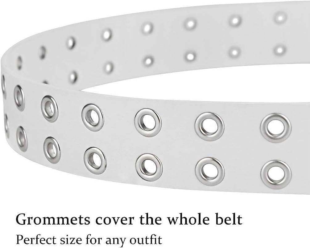 Cintur/ón para mujer The Hole de doble punta ancha g/ótica para mujer cinturones para jeans